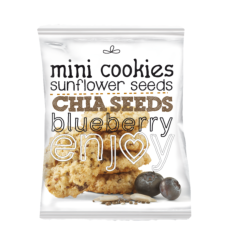 Mini oat cookies sunflower seeds, chia and blueberry