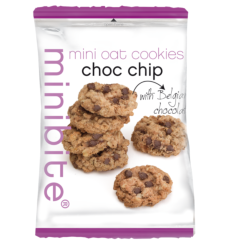 Mini oat cookies chocolate chip